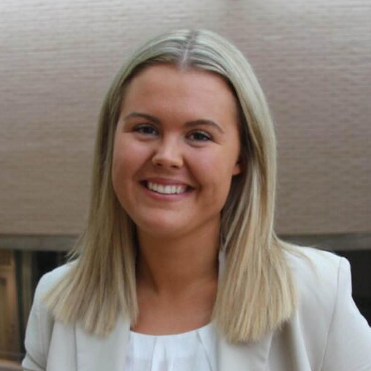 Emma Tomine Viken i Næringslivsutvalget NTNU
