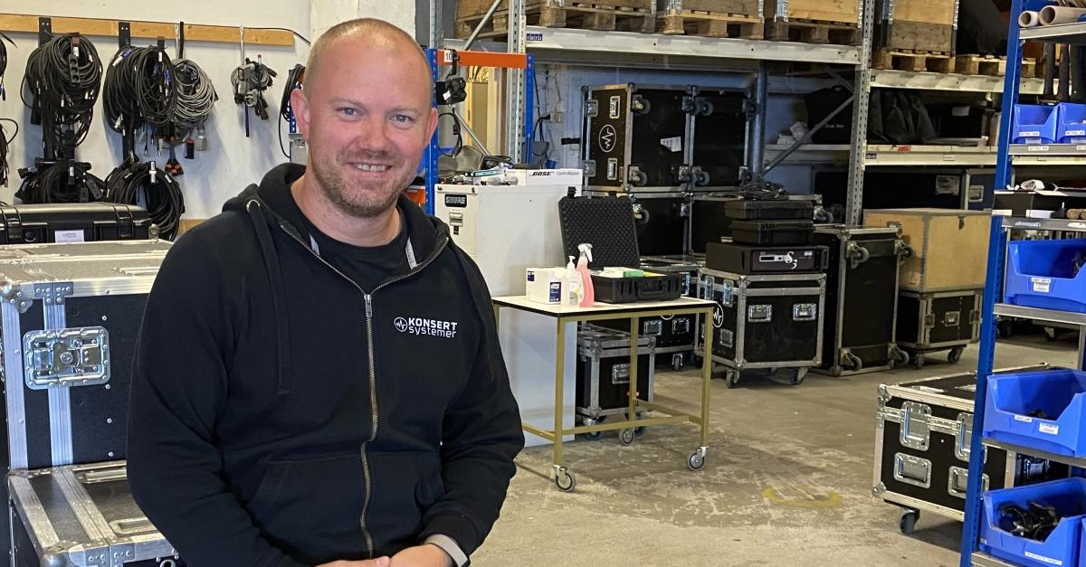 Per Oskar Mørk Pedersen, teamleder i Konsertsystemer LLB, velger å tenke positivt til tross for svært krevende tider for arrangørbransjen.