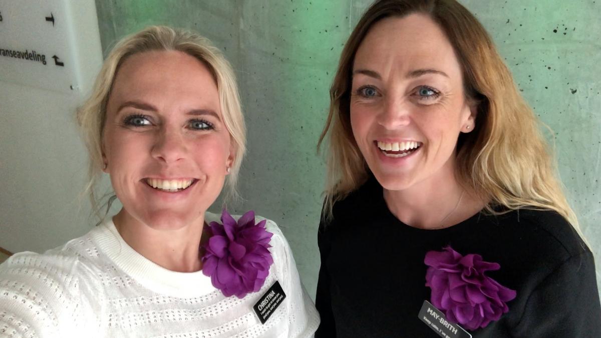 Christina Tønseth Frøysa og May-Brith Valle Rotevatn gleder seg til ønske B2B ARENA sine medlemmer velkommen til minglelunsj fredag 5. juni på Quality Hotel Ålesund.