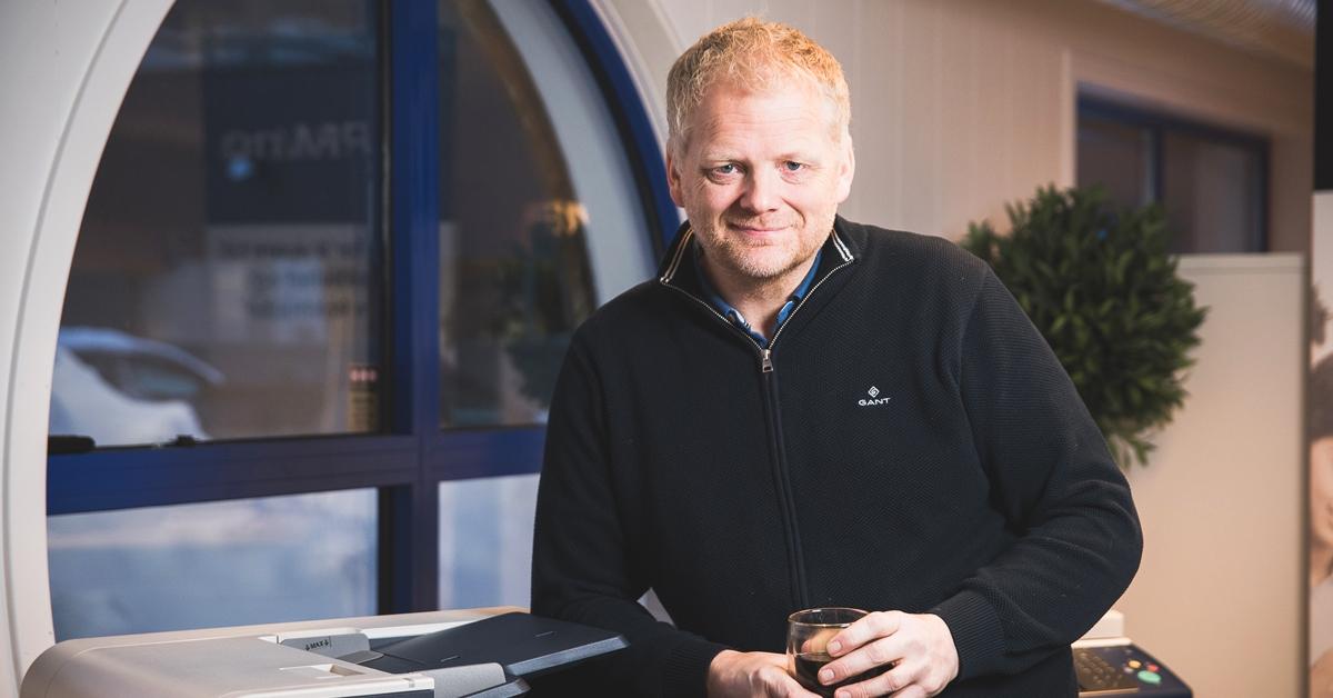 Medeier i X-Partner Møre, Hans Remmen, forteller om stadig nyutvikling og utvidelse av de tjenestene de kan tilby sine kunder.